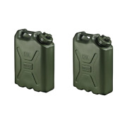 Water Storage Container 5 Gal. Carrying Handle Portable Small Spout 2-pack