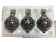 Wizard Of Oz Bradford Exchange Ornaments 68231 2000 Set Of 3 W/coa And Tags