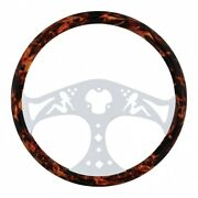 United Pacific 8266409 18 Flame Steering Wheel W/ Hydro- Dip Finish Wood Lady