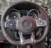 Brand New Mercedes-benz Amg Carbon Fiber+nappa Custom Steering Wheel Old To New