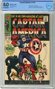 Captain America 100 Cbcs  8.0 Vf  Off White/white Pages 4/68 1st Issue,