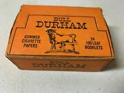 Bull Durham Complete Box Cigarette Rolling Papers Nos 24 Packs Per Box