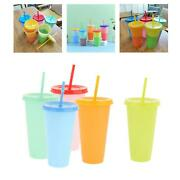 5 Pieces Reusable Portable Color Changing Cup With Lid 720ml Water Tumblers