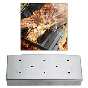 Stainless Steel Smoker Box Charcoal Gas Grill Add Smoky Flavor Meat Tool