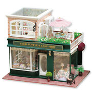 Miniature Dollhouse Kit Wood Coffee And Cake Shop 3d Puzzles Doll House Toys