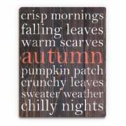 Red Autumnand039 Wood Words Wall Art
