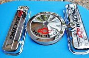 Bbc-454 Short Chrome Bowtie Racing Valve Covers W/ Matching 14x3 Air Cleaner