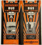Greyhound Bus Time Table Distributed In 1936. Rare In Good Condition