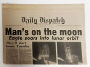 Man's On The Moon Newspaper Daily Dispatch July 21, 1969