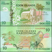Cook Islands 10 Dollars - Nd 1992 - Unc - P.8a Banknote
