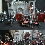 Vintage Toy Medieval Castle Figures Game Infantry Knights Playset New Stock