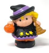 Fisher Price Little People Witch Costume Girl Woman 2002 Halloween Pumpkin Play