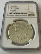 1 1924 S San Francisco Mint Peace Silver Dollar - Coin Graded Ngc Au Details