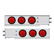United Pacific 63545 4 Red Spring Loaded Light Bars W Six 4 Led Lights