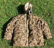 Vintage Mens 70s 80s Orvis Hunting Camo Hooded Parka Goose Down Canada M Coat