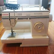 Singer Sewing Machine With Foot Pedal And Cover 57817c Listed 621b, Brazil, Tested