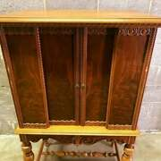Beautiful Antique French Carved Cabinet With Sliding Doors