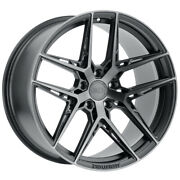 Staggered-xo Cairo Front19x8.5rear19x9.5 5x120 +35mm Graphite Wheels Rims