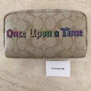 Coach X Disney Once Upon A Time Small Boxy Cosmetic Bag Signature Canvas Nwt