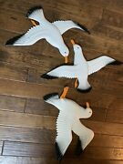 Vintage 60and039s Old Century Forge From Montague Michigan Seagulls Signed Rah Andlsquo66