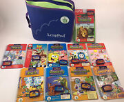 Leap Frog Leap Pad Learning System Lot Of 10 Books W/ Matching Cartridges