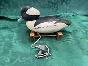 Rare Vintage Carved Ruddy Duck Decoy Captain Vernon Bryant Perryville Maryland