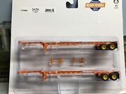 """1/87 Ho Scale, Athearn """"yang Ming"""" 45' Container Trailers Nib"""