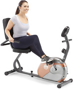 Recumbent Exercise Bike With Resistance And Comfortable Padded Seats Magnetic