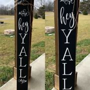Rustic Large Wood Sign Fixer Upper Farmhouse Primitive Distressed Hey Yall Sign