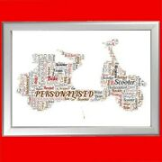 Personalised Scooter Word Art Print Different Gift For Scooter Lovers