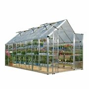 Palram Silver Snap And Grow Greenhouse 8and039 X 16and039 - 8 Ft. X Silver Clear 8 Ft.
