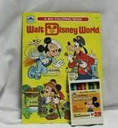 Disney Mickey Mouse Coloring Book Walt Disney Productions 1983 New + Crayons