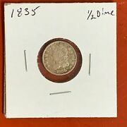 1835 Capped Bust Silver Half Dime High Grade Old Time Cleaning