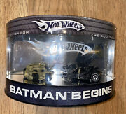 Hot Wheels-batman Begins-2 Car Set-limited Edition For The Adult Collector