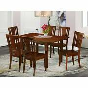 East West Furniture Dining Table And Modern Dining Chairs Wood Seat Psdu7-mah-w
