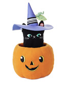 Hallmark Halloween Peek-a-boo Black Cat Singing Plush With Motion New With Tag