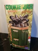 Vintage Sports Golf Bag Clubs Cannister Cookie Jar Clay Art 2002 Hand Painted