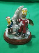 Bradford Exchange Editions Simpsons Light Up Christmas Ornament Cool Your Jets
