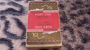 Art Deco De La Rue Port Line Shipping Advertising Playing Cards Ship Tax Sealed