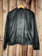 Lucky Brand Lamb Leather Womens Black Jacket Large