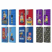 Minions Minion British Invasion Leather Book Wallet Case For Samsung Phones 4