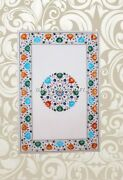 Marble Dining End Table Top Multi Inlay Floral Furniture Garden Decorated H3831