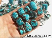 1000 Pcs Lot Natural Turquoise Gemstone 925 Sterling Silver Plated Rings Mfa430