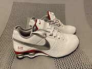 Womens Nike Shox Size 6 Us Shoes Sneakers Red/white/silver 317549-126 2010
