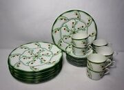 Haviland China Lotus Pattern 24-piece Set Service For 8 -cup Saucer Dinner Plate
