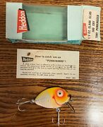 Heddon Tiny Punkinseed Lure- Model 380 With Box - Yellow Shore Xry