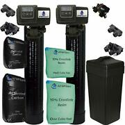 Combo Package Fleck 5600sxt 48000 Grain Water Softener And Backwashing Carbon F