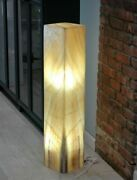 Orange Onyx Floor Lamp - 38 Inch - Fine Natural Layers And Pattern