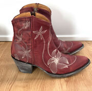Old Gringo Red Flora Loca Ankle Boots Size 6.5