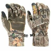 Hot Shot Menandrsquos Camo Swiftstrike Pro-text Gloves Realtree Edge Hunting Camouflage